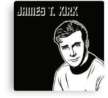 James T. Kirk Canvas Print