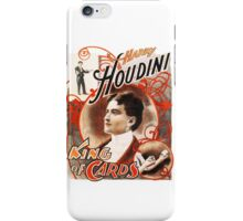 Harry Houdini Master of Cards Vintage iPhone Case/Skin