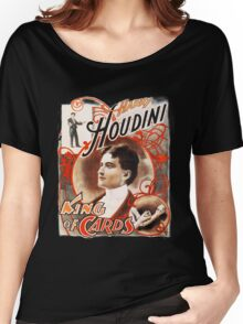 Harry Houdini Master of Cards Vintage Women's Relaxed Fit T-Shirt