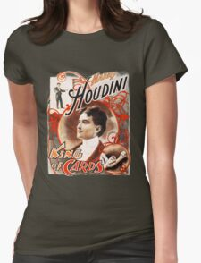 Harry Houdini Master of Cards Vintage Womens Fitted T-Shirt