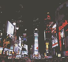 Times Square at Night by CloverFi