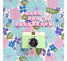 Love and Snapshots  Photographic Print