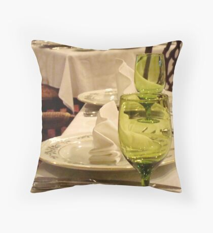 Place Setting - HOTEL ROANOKE ^ Throw Pillow