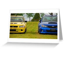 Rally Rivals Greeting Card