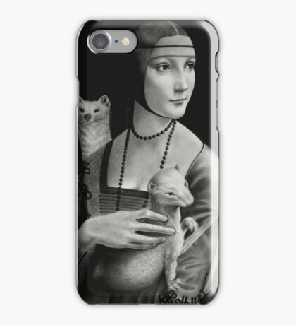 Lady With Two Ermines iPhone Case/Skin