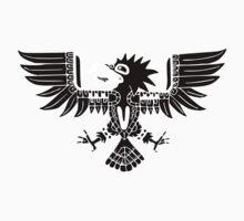 Mayan Eagle - Black Baby Tee