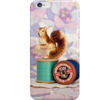 Crafty Squirrel  iPhone Case/Skin