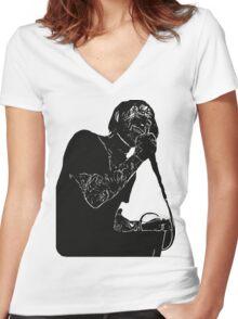 Jerry Roush Women's Fitted V-Neck T-Shirt