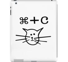Copy cat mac geek funny nerd iPad Case/Skin