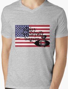 daisy marcela aquino usa flag Mens V-Neck T-Shirt