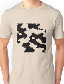 Cow pattern black and white geek funny nerd Unisex T-Shirt