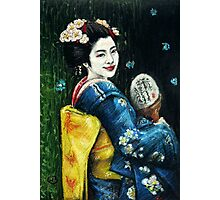 Butterfly Geisha Photographic Print