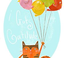 A cat with attitude by Pauline Reeves