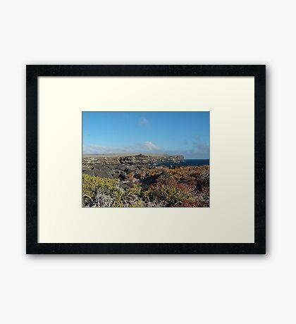 Galapagos Cliffs Framed Print