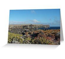 Galapagos Cliffs Greeting Card