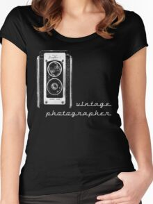 vintage photographer  Women's Fitted Scoop T-Shirt