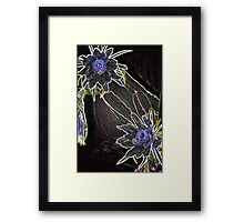 Luminance Moon Flower Framed Print