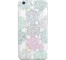Rosewolf: snarling wolf that looks like floral print iPhone Case/Skin