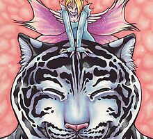 Faerie Hugs - White Tiger by Erika Harm