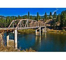 Westfall Bridge, Lozeau, Montana Photographic Print