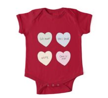 Sassy Hearts One Piece - Short Sleeve