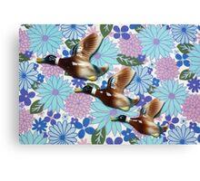 Flying Ducks Canvas Print