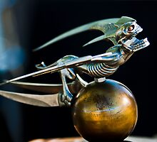 Gargoyle Hood Ornament 1 by Jill Reger