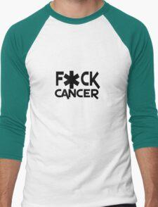 F ck cancer geek funny nerd Men's Baseball ¾ T-Shirt