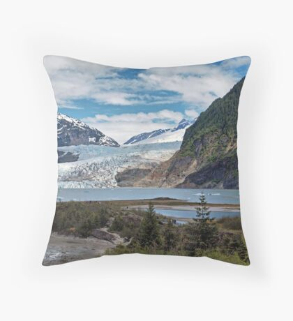 Mendenhall Glacier  Throw Pillow