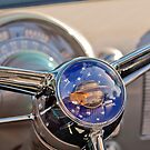 1950 Oldsmobile Rocket 88 Steering Wheel 2 by Jill Reger