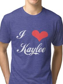 Firefly: I Heart Kaylee for Dark Backgrounds Tri-blend T-Shirt
