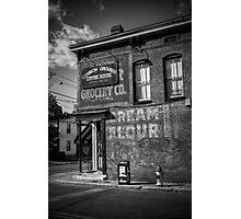 GROCERY   CREAM   FLOUR   COFFEE Photographic Print