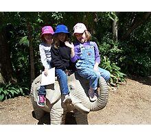 Classic girls on elephant shot :P Photographic Print