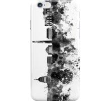 Washington DC skyline in black watercolor on white background  iPhone Case/Skin