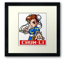Chun-Li - Street Fighter Sprite Framed Print
