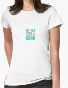Floss like a boss geek funny nerd Womens Fitted T-Shirt