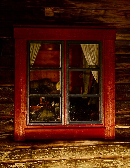 Cottage window. Lappland - Sweden . by Brown Sugar . Views ( 182) thank you very much ! by © Andrzej Goszcz,M.D. Ph.D