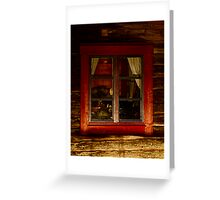 Cottage window. Lappland - Sweden . by Brown Sugar . Views ( 182) thank you very much ! Greeting Card