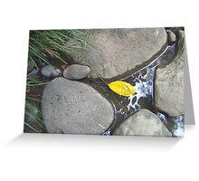 yellow leaf Greeting Card
