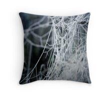 Winter cobwebs Throw Pillow