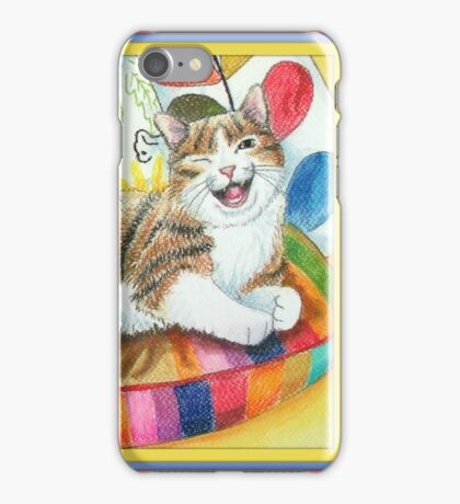 """I am magnificent, from the childrens book """" The magnificent cat"""" by Sharon Thompson available on amazon iPhone Case/Skin"""