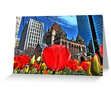 Boston in Bloom Greeting Card