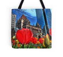 Boston in Bloom Tote Bag