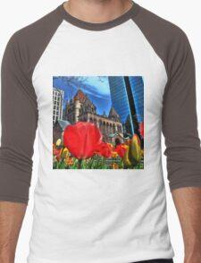 Boston in Bloom Men's Baseball ¾ T-Shirt