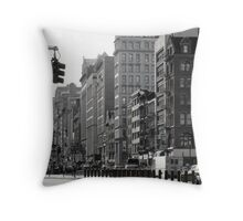 Fifth Avenue and Broadway Throw Pillow