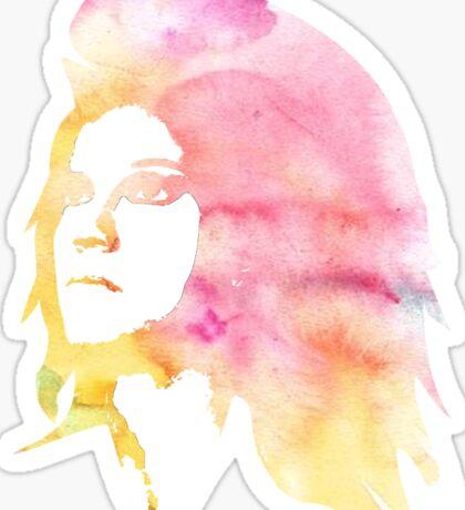 watercolor girl Sticker