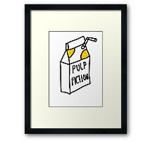 Pulp Fiction Juice Framed Print