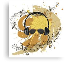 Male Dj Illustration 3 Canvas Print