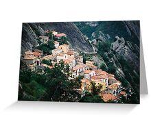 Hillside Town View - Castelmezzano, Italy Greeting Card
