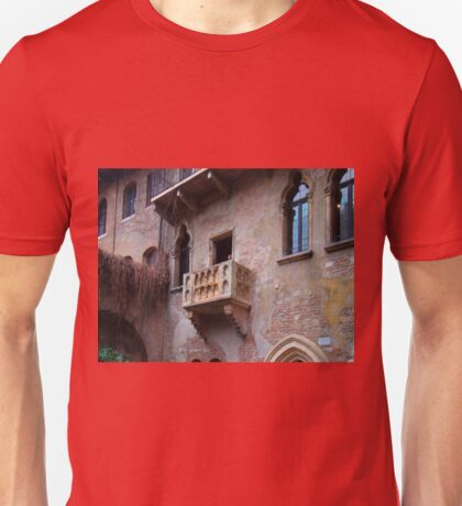 The Balcony Of Juliet In Verona Unisex T-Shirt
